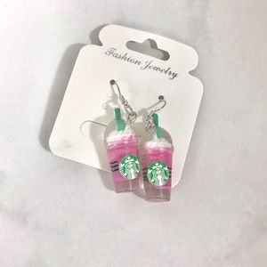 NEW Starbucks pink drink Frappuccino earrings